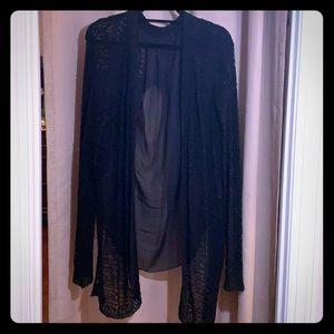 Jackets & Blazers - Black Sheer Wrap/Jacket
